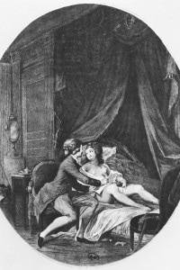 Illustrazione da Le relazioni pericolose: Valmont ed Emilie