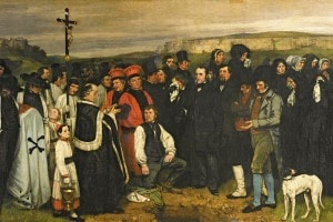 """Funerale ad Ornans"", 1849-50, Gustave Courbet"