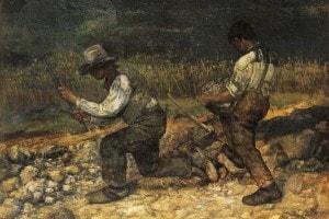 """""""Gli spaccapietre"""", 1849, Gustave Courbet"""