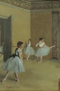 """""""Il foyer della danza al teatro dell'Opéra"""", 1872, Edgar Degas"""