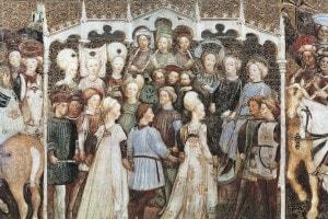 La corte di Autari e Teodolinda, affresco della Cattedrale di Monza