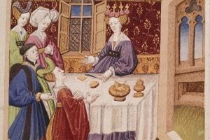 Miniatura del Roman De Tristan, in un manoscritto del XV secolo