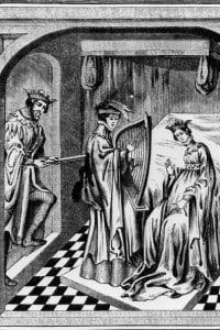 Illustrazione della leggenda di Tristano e Isotta