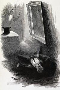 Illustrazione della morte di Doryan Gray dall'edizione del 1910 del romanzo.