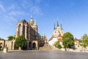 La città di Erfurt, in Turingia