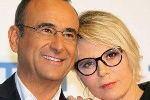 Carlo Conti e Maria De Filippi, insieme a Sanremo 2017