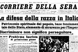 Difesa della razza: un articolo del Corriere della Sera datato agosto 1938