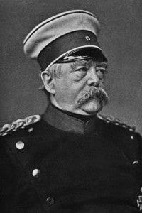 Ritratto di Otto von Bismarck, mente della Triplice Alleanza
