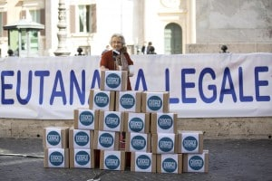 Sit-in a favore dell'eutanasia