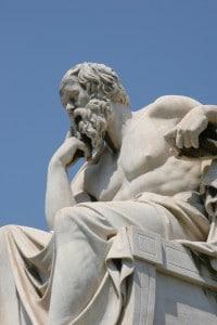Statua greca raffigurante Socrate