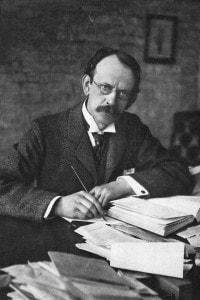 Joseph John Thomson, fisico britannico noto per aver scoperto l'elettrone e il protone e aver contribuito all'individuazione della struttura dell'atomo