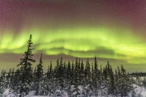 Foto di un'aurora boreale