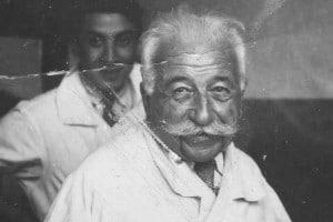 Storica foto di August Lumière, uno degli ideatori del cinema