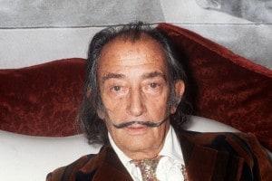 Foto di Salvador Dalì risalente al 1972