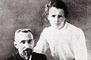 Coniugi Curie, foto d'epoca