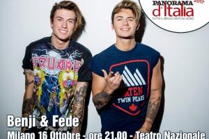 Benji & Fede, appuntamento al Teatro Nazionale di Milano il 16 ottobre 2017
