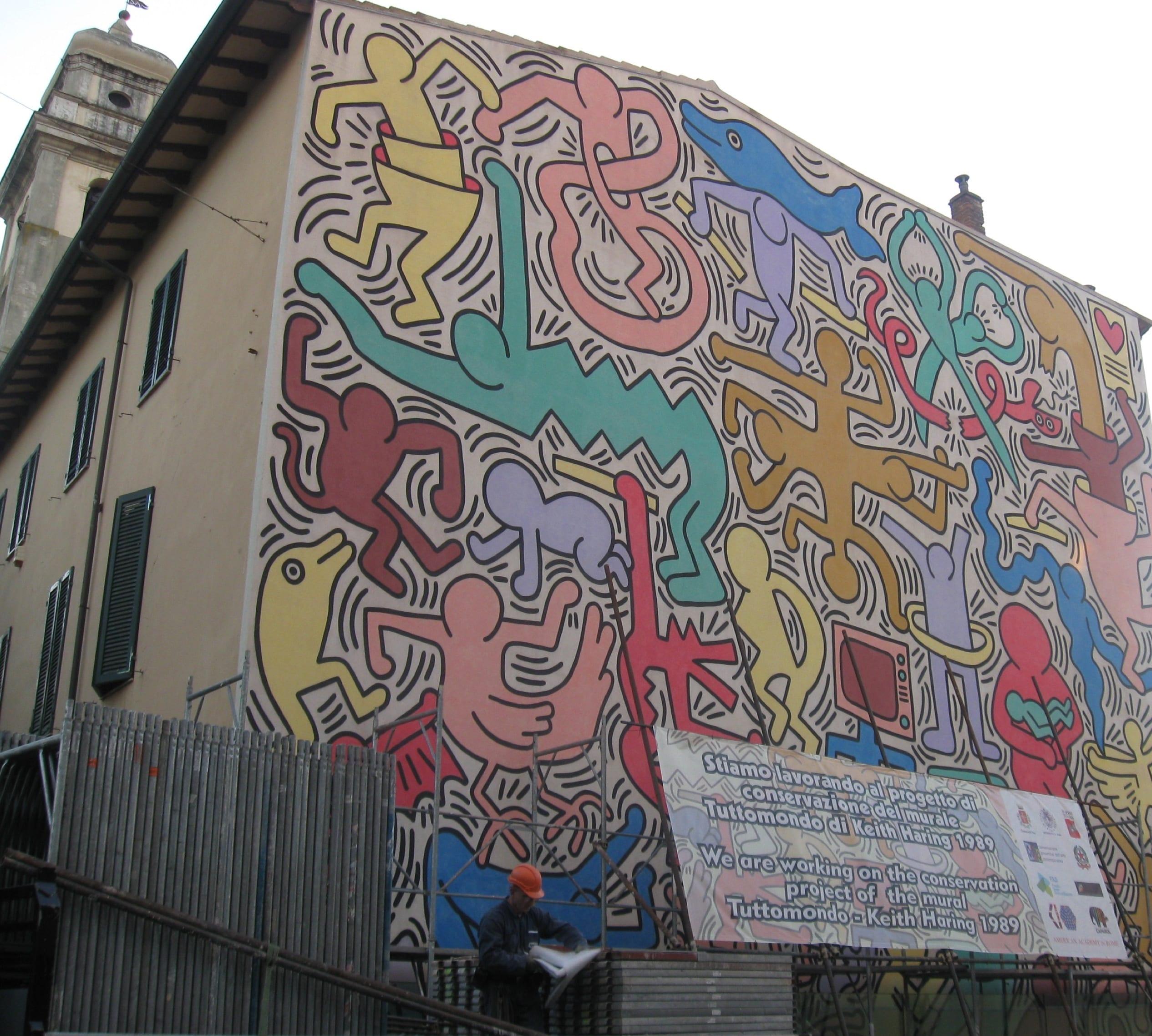 """""""Tuttomondo"""" di Keith  Haring (Pisa)"""