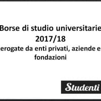 Borse di studio private 2017/18