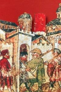 Pellegrini a Roma per il Giubileo del 1350