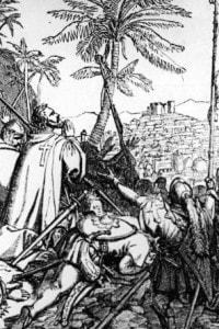 Crociati e pellegrini in preghiera alla vista di Gerusalemme (1150)