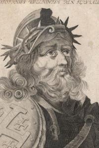Godfrey of Bouillon (c.1060 - 1100), nobile francese che conquistò Gerusalemme nel 1099 diventandone il primo re cristiano