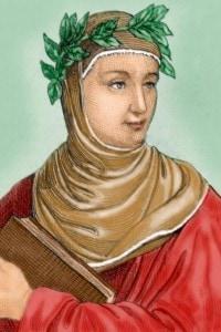 Giovanni Boccaccio ritratto in un disegno
