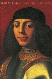 """Ritratto di Piero De' Medici (1472-1503) anche noto come """"lo sfortunato"""", dipinto da Agnolo Bronzino"""