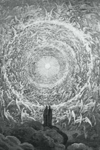 Disegno raffigurante una scena del canto XXI del Paradiso