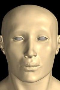 La ricostruzione del volto di Tutankhamon