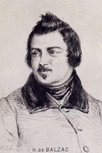 Ritratto dello scrittore francese H. de Balzac (1799 - 1850)