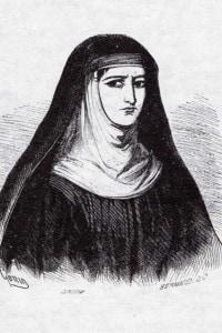 """Suor Gertrude tratta dalle illustrazioni dell'edizione del 1840 dei """"Promessi Sposi"""""""