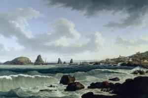 I faraglioni di Aci Trezza in un dipinto di Jacob Philipp Hackert