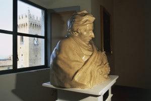 Mezzobusto raffigurante Giacomo Leopardi