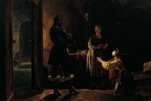 Lucia e Don Rodrigo in un affresco di Nicola Cianfanelli