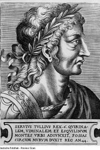 Il re Servio Tullio in un disegno del XVI secolo