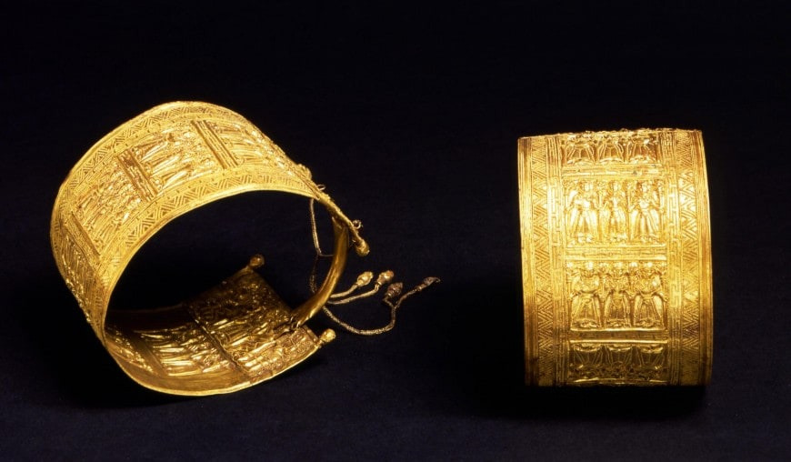 Bracciali in oro lavorato