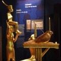 Statue di divinita' che accompagnavano il faraone