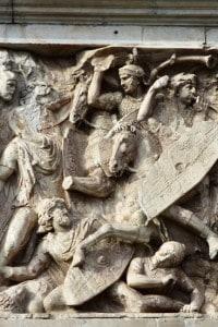 Le invasioni barbariche iniziarono a manifestarsi attorno al 166 d.C.