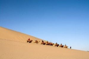 Deserto nei pressi di Dunhuang, uno dei luoghi per cui passa la via della seta
