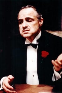 """Marlon Brando in una scena del film """"Il Padrino"""""""
