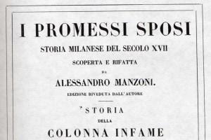 """La copertina dell'edizione del 1840 dei """"Promessi Sposi"""""""