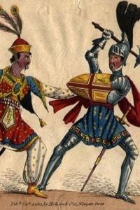 """Una rappresentazione delle Crociate dei Cristiani contro i """"mori"""""""