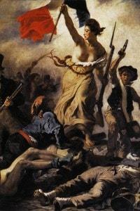 La Liberta' che guida il popolo' di Eugene Delacroix