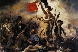 La libertà che guida il popolo di Delacroix
