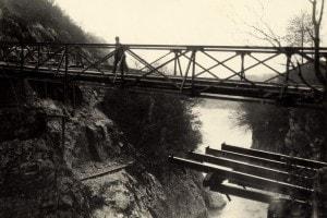L'Isonzo alle falde del Monte Nero verso Caporetto durante la Prima Guerra Mondiale