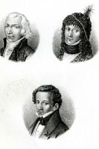 Il padre Monaldo, la madre Adelaide ed il giovane Giacomo