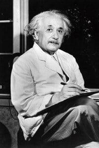 Albert Einstein (1879-1955), premio Nobel per la Fisica nel 1921
