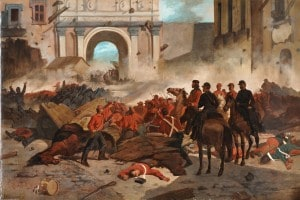 Illustrazione della breccia di Porta Pia