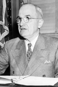 Il presidente U.S.A. Harry Truman