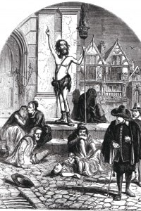 Incisione raffigurante l'epidemia di peste del 1665 a Londra